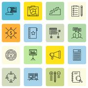 Set Of Project Management Icons On Creativity, Investment, Cash Flow And More Stock Illustration