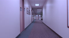 Hospital exam rooms and office hallway walk POV 4K  Stock Footage