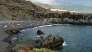 Beaches on the island of La Palma.Tilt-shift effect.Time lapse. Stock Footage