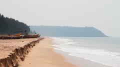 Beautiful beach in Goa Stock Footage