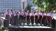 Performance National Ukrainian choir Stock Footage