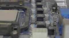 Electronic circuit board close up Stock Footage
