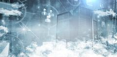 Servers in the clouds Stock Photos