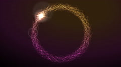 Electric neon effect iridescent flowing ring video animation Stock Footage