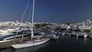 Exclusive sailboats and yachts in Greek port. Stock Footage