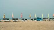 Chair with Umbrella near the Beach Stock Footage