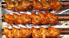 Timelapse 4K 2016 Munich Oktoberfest Octoberfest Grilled Roasted Chicken German Stock Footage