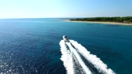 Aerial footage | Luxury yacht cruising Stock Footage