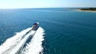 Aerial footage | Luxury yacht cruising Stock Footage