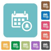 Flat calendar alarm icons Stock Illustration