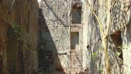 Ruins of Redi abandoned and ancient fort at summer day. Stock Footage