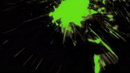Whacky Coloured Paint Splash - 96 Stock Footage