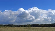 Big powerful cumulus clouds, time-lapse, Stock Footage