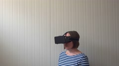 Virtual reality and 360 view video Stock Footage