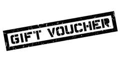 Gift Voucher rubber stamp Stock Illustration