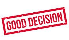 Good Decision rubber stamp Stock Illustration