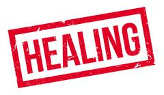 Healing rubber stamp Stock Illustration