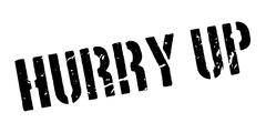 Hurry Up rubber stamp Stock Illustration