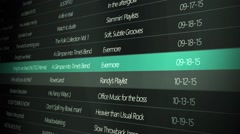 Generic Music Playing Interface - Side Shot Reverse Angle Stock Footage