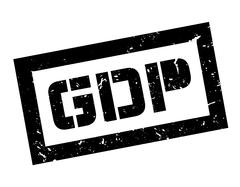 GDP rubber stamp Stock Illustration