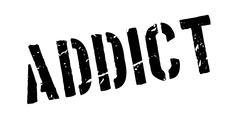 Addict rubber stamp Stock Illustration