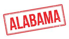 Alabama rubber stamp Stock Illustration