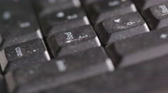 Bstract keyboard with noise Stock Footage
