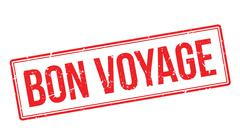 Bon Voyage rubber stamp Stock Illustration