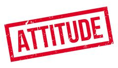 Attitude rubber stamp Stock Illustration