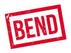 Bend rubber stamp Stock Illustration