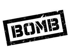 Bomb rubber stamp Stock Illustration