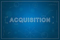 Blueprint of acquisition Stock Illustration