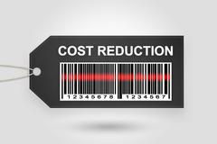 Cost reduction price tag Stock Illustration