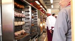 4K 2016 Munich Oktoberfest Octoberfest Grilled Roasted Ham Hock Schweinehaxe Stock Footage
