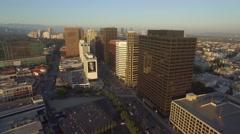 Westwood Los Angeles Aerial 4k Buildings Drone (av_2) Stock Footage