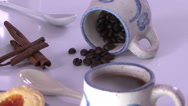 Coffee cup display Stock Footage