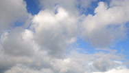 Blue sky turns into dark stormy clouds Stock Footage