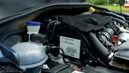 Car engine - road - closeup  Stock Footage