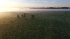 Chime , fog, flourishing , spans , Chelyabinsk , beautiful sunrise Stock Footage