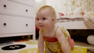 Little cute baby playing in his room. Stock Footage