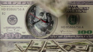 The dollars are falling on the background of hundred dollar bills.Us dollars. Stock Footage