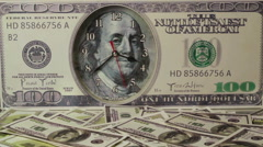 Dollars on the background of hundred dollar bills.Us dollars Stock Footage