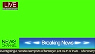Blue News Screen Stock Footage