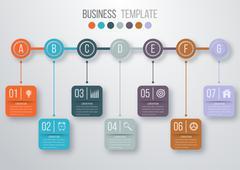 Vector illustration infographic timeline Piirros