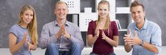 We're happy to know the sign language Stock Photos