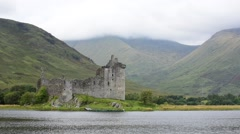 Kilchurn Castle along Loch Awe, Argyll and Bute, Scotland, UK Stock Footage