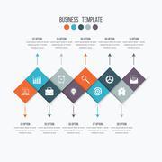 Vector infographic design 10 options Stock Illustration