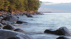 Rocky Lake Superior Shore 4K Timelapse Stock Footage