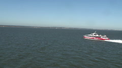 Red Jet high speed ferry crossing Solent Stock Footage