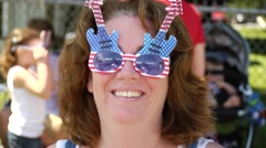 Fourth of July glasses Stock Footage